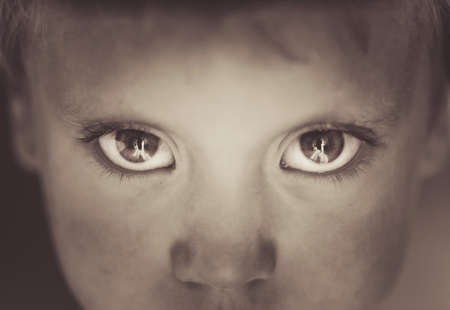 Eyes close-up little boy photo