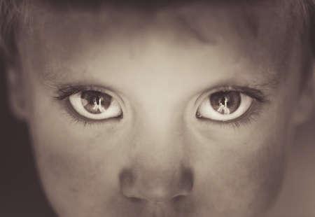 black baby boy: Eyes close-up little boy
