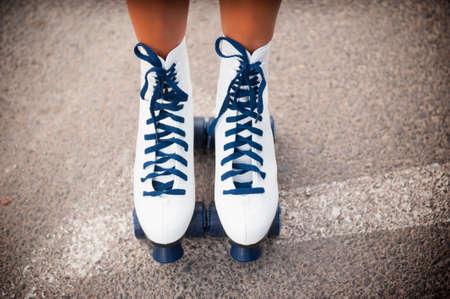roller skating: Photo Sports rollers skating female legs wearing
