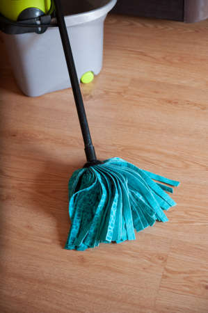 tidiness: Mop with a bucket for washing floors