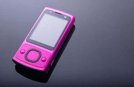 Old pink mobile phone