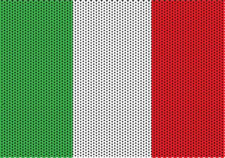 Textura hecha punto de la bandera italiana.