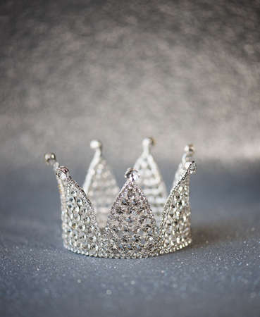 Beautifull silver decorated crown Stock Photo