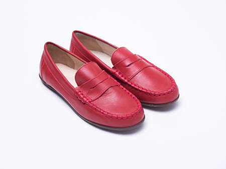 Red childrens loafers