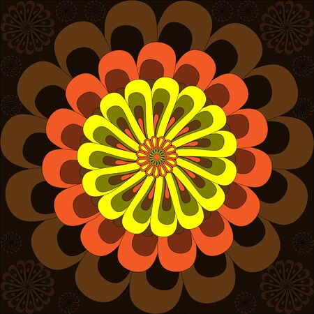 colore: Simple tricolor flower - background illustration