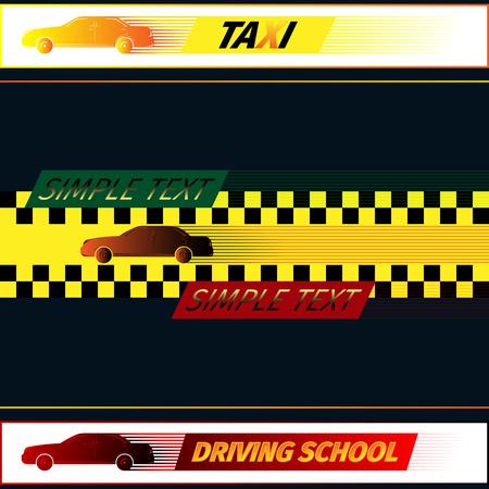 autoscuola: Scuola guida e di taxi template del logo. Eps di illustrazione vettoriale 10
