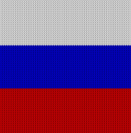 federal election: Knitted flag of the Russian Federation. Background not seamless vector illustration