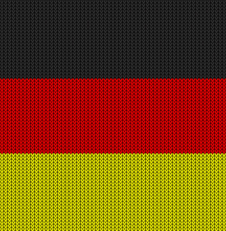 knitted: Knitted flag of Germany. Background vector illustration