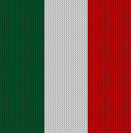 italy background: Knitted flag of Italy. Background vector illustration