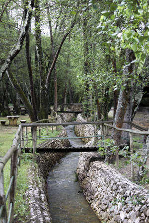 parque: Nice relaxing parque with water stream