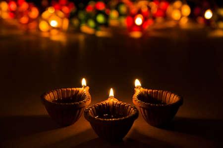 beautiful diwali lighting, selective focus Banco de Imagens