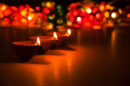 beautiful diwali lighting, selective focus Stock Photo