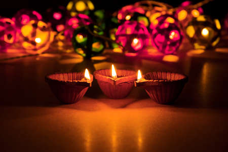 beautiful diwali lighting, selective focus Imagens
