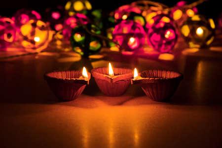 beautiful diwali lighting, selective focus Standard-Bild