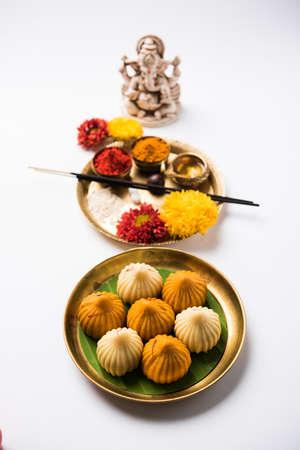 malai: A modak is an Indian sweet dumpling popular in many parts of India. It is called modak in Marathi and Konkani as well as Gujarati language, Kozhakkatta in Malayalam, modhaka or kadubu in Kannada
