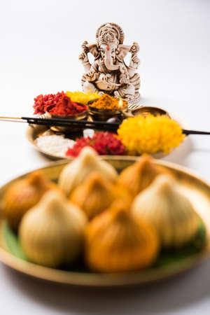 A modak is an Indian sweet dumpling popular in many parts of India. It is called modak in Marathi and Konkani as well as Gujarati language, Kozhakkatta in Malayalam, modhaka or kadubu in Kannada