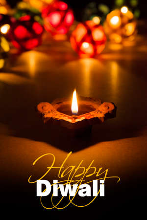 Stock photo of diwali greeting card showing illuminated diya stock stock photo stock photo of diwali greeting card showing illuminated diya or oil lamp or panti with happy diwali text m4hsunfo
