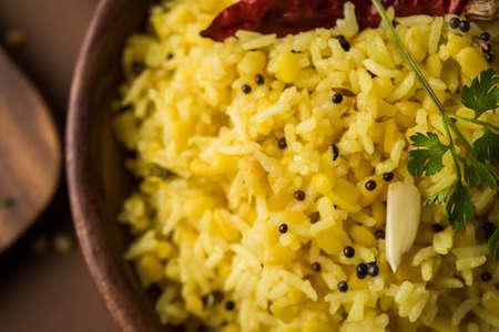 moong dal khichdi, Indian national Dish or food, selective focus Stock Photo