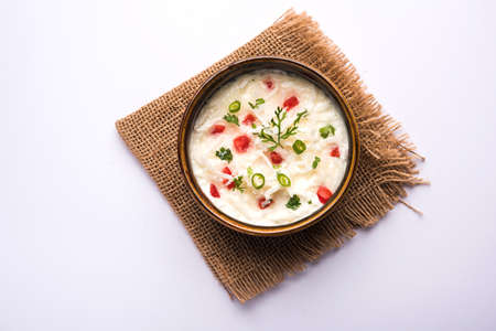 Radish Raita  daikon or Mooli Koshimbir is a condiment from the Indian subcontinent, made with dahi or curd together with raw or cooked vegetables like radish, tomato, green chilli and coriander
