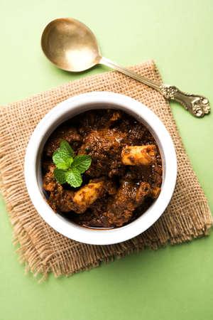 Bhuna  Mutton / Bhuna Gosht / Indian lamb curry