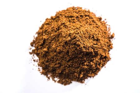 Indian Garam Masala powder or Spice mix. Selective focus