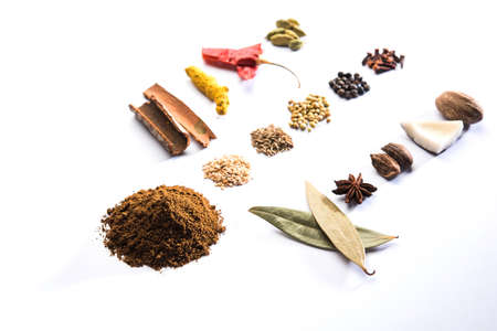 Indian Garam Masala powder or Spice mix. Selective focus