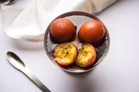 Indian sweet Gulab Jamun, popular festival or wedding food
