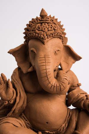 Ganesh idol on white