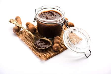 Tamarind Or Imli Fresh Puree, Paste from Pulp Reklamní fotografie