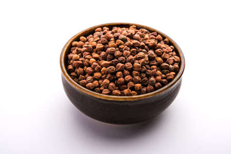 Black Chick Pea or Kala Chana in a bowl, selective focus