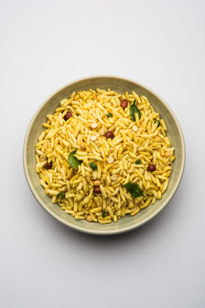 Puffed Rice Chivda is a savory and spicy bhel item made using murmura or murpure, Indian Food