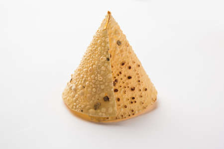 Papad Cones or Papadum in Cone shape, Traditional indian side dish