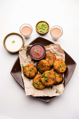 Aloo tikkiorPotato Cutlet or Patties is a popular Indian street food made with boiled potatoes, spices and herbs