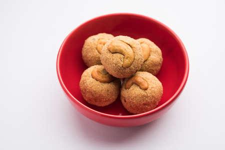 Indian Sweet Rava Laddu or Rawa Laddoo or semolina sweet balls also known as??suji ladoo