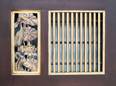 Details of Straits Chinese Swing Door