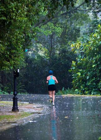 Running in the Rain photo