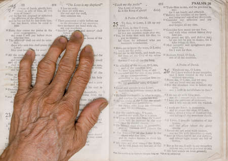 arthritic: The Lord is my Shephard Stock Photo