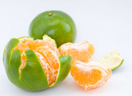 sweet segments: Peeled Honey Mandarin Orange Stock Photo