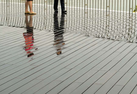 Reflections on Boardwalk photo