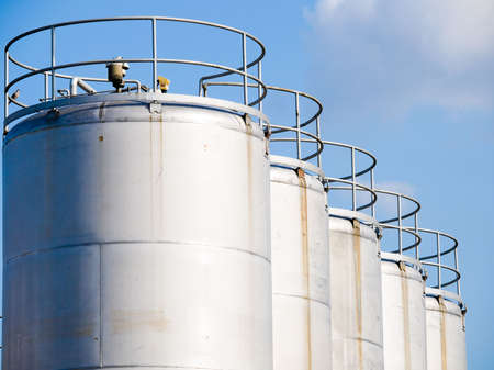 Industrial Silos Stock Photo