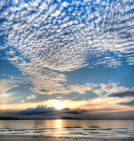 Altocumulus in the Morning Skies Stock Photo