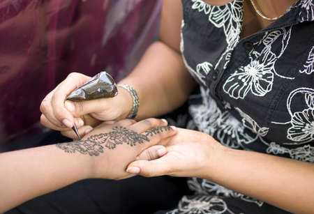 Henna Painting Stock Photo