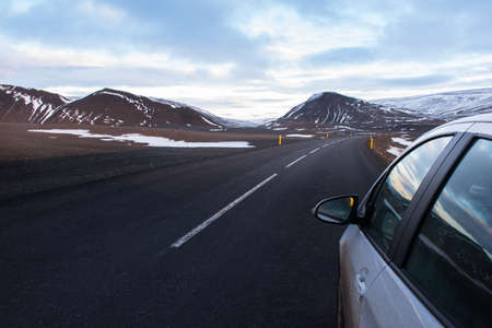 snowcapped: Driving through Snow-capped mountains