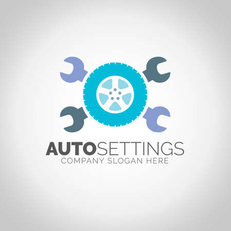 Auto Settings with grey illustration background.
