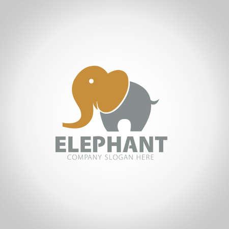 Elephant with grey illustration background. Ilustração