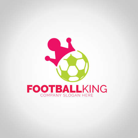 Football King with grey illustration background.