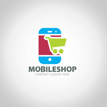 Mobile Shop illustration background.