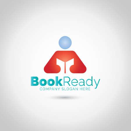 Book Logo Ilustração
