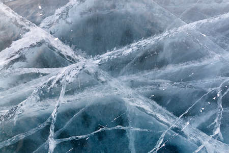 frozen lake: Texture of frozen lake Baikal in winter