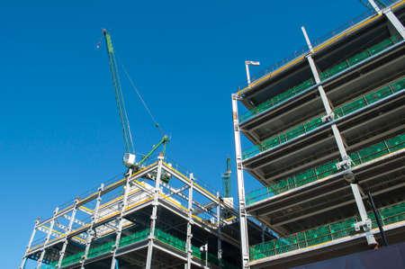 contruction: Steel Girder Building Under Contruction